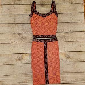 Bebe Crop top and Skirt set
